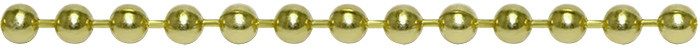 An image of our yellow brass ball chain and bead chain finish.